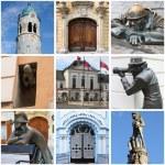 Bratislava landmarks collage — Stock Photo