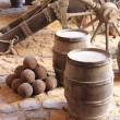Stock Photo: Gunpowder barrels