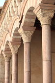Colonnade in a cloister — Stock Photo