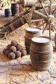 Gunpowder barrels — Stock Photo