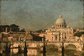 Saint Peter basilica - Vintage — Stock Photo