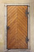 Medieval front door in Prague — 图库照片