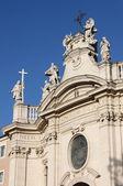 Cruz santa en la basílica de jerusalén en roma — Foto de Stock