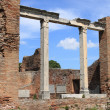 Ruins of a temple in Ostia Antica - Stock Photo