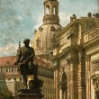 Dresden urban scenics - Vintage — Stock Photo