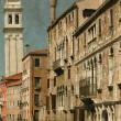 Urban scenic of Venice - Vintage — Stock Photo