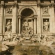 Trevi Fountain in Rome - Vintage — Stock Photo