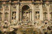 Fuente de trevi en roma - vintage — Foto de Stock