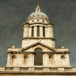 Clock tower of Royal Naval College - Vintage — Stock Photo