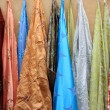 Curtains for sale — Stock Photo