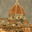 Florence cathedral - Vintage — Stock Photo