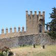 Stock Photo: Castle battlements