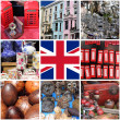 Collage of images of Portobello Road Market — Стоковая фотография