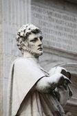 St. Crescentino statue — Stock Photo