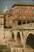 Rome urban scenics - Vintage — Stock Photo