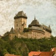 Karlstein castle - Vintage — Stock Photo