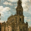 Hofkirche in Dresden - Vintage — Stock Photo
