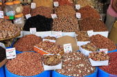 Dried fruits and legumes — Stock Photo