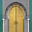 Stock Photo: Golded door of Royal Palace in Fes