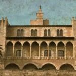 Almudaina Palace in Palma de Mallorca - Vintage — Stock Photo #27822403
