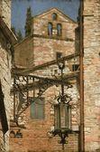 Lámpara de calle medieval - vintage — Foto de Stock