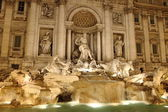 Trevi Fountain in Rome by night — Stock Photo