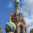 Domes of the Church of the Saviour on Spilled Blood — Stock Photo