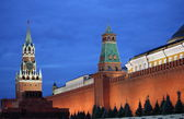 Red Square of Moscow by night — Stock Photo