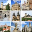Bohemia landmarks collage — Foto de Stock