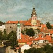 Cesky Krumlov, Czech Republic - Vintage — Stock Photo