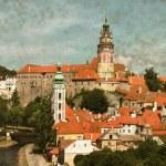 Cesky krumlov, Tjeckien - vintage — Stockfoto