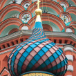 Colorful dome in St. Basil Cathedral — Stock Photo #30469393
