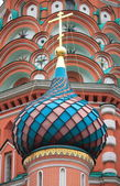 Colorful dome in St. Basil Cathedral — Stock Photo