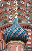 Cúpula colorida na catedral de são basílio — Foto Stock