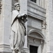 St. Crescentino statue — Stock Photo
