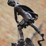 Statue of St. Crescentino in Urbino — Stock Photo