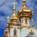 Golden domes at Peterhof Palace — Stock Photo #30605117