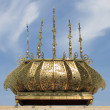 Gilded lamp in the Mausoleum of Rabat — Stock Photo