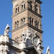 Belfry of Saint Mary Major Basilica in Rome — Stock Photo