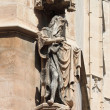 Statue of a saint in La Lonja monument — Stock Photo