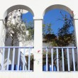 Arched balcony — Stock Photo