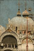 St. Mark Cathedral in Venice - Vintage — Stock Photo