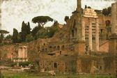 The Roman Forum - Vintage — Stock Photo
