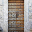 Squared medieval front door — Stock Photo