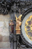 Statues of Prague Astronomical Clock — Stock Photo