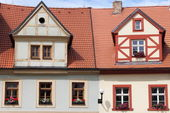 Traditional timbered house — Stock Photo