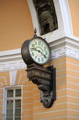 Old style clock in Saint Petersburg — Foto Stock
