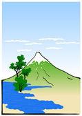 Japonská krajina — Stock vektor