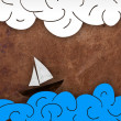 Stock Photo: Seand boat illustration