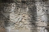 Detail of stone carvings in angkor wat, Cambodia. — Stock Photo